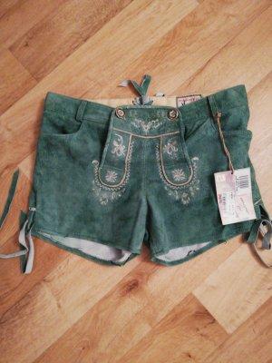 Lederhose grün/kurz/Stockerpoint