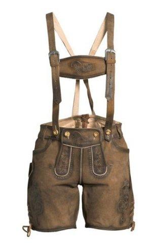 Pantalon traditionnel en cuir gris brun-brun