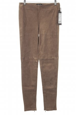 Leather Trousers light brown-gold-colored glittery