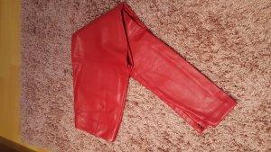 Lederhose imitat von h&m in rot