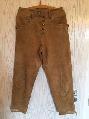 MarJo Pantalón de cuero tradicional marrón claro