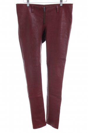 Leather Trousers carmine biker look