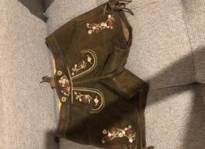 Krüger Dirndl Pantalon traditionnel en cuir brun