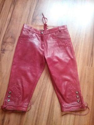 Pantalon bavarois rouge cuir