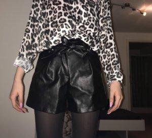 Lederhose Mango Shorts blogger
