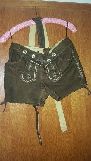 MarJo Pantalón de cuero marrón oscuro