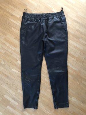 Maze Pantalone in pelle nero Pelle