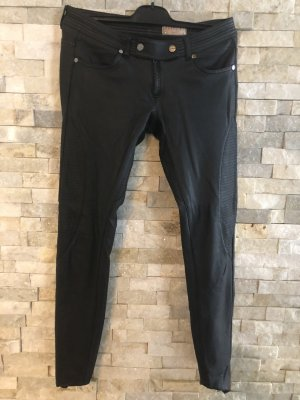 Met in Jeans Leather Trousers black