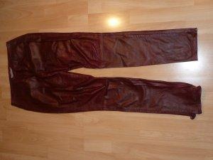 Kookai Pantalone in pelle cognac Pelle