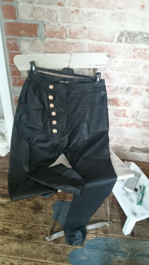 0039 Italy Trousers black-gold-colored