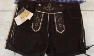 Pantalón de cuero marrón oscuro Cuero
