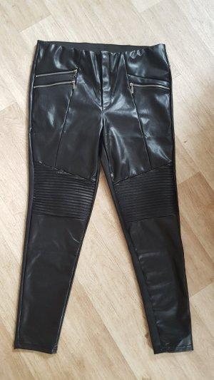 Janina Leren broek zwart