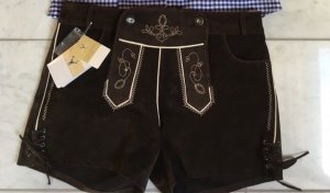 Pantalon bavarois brun foncé