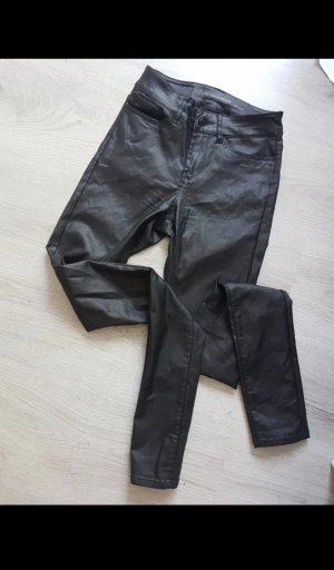 Only Leather Trousers black