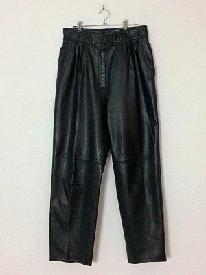 Vintage Pantalón de cuero negro Cuero