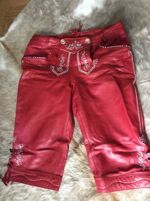 Spieth & Wensky Leather Trousers dark red-red