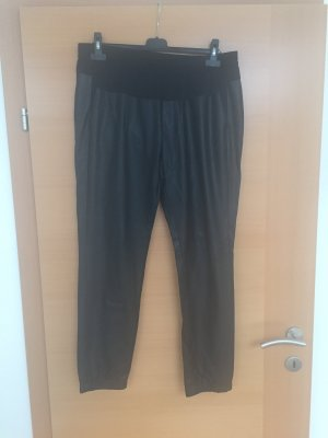 s.Oliver Leather Trousers black