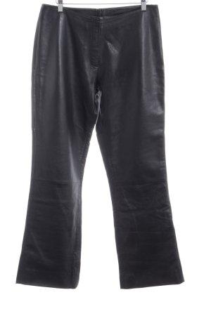 Lederhose schwarz 90ies-Stil