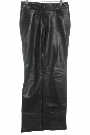 Lederhose schwarz Biker-Look