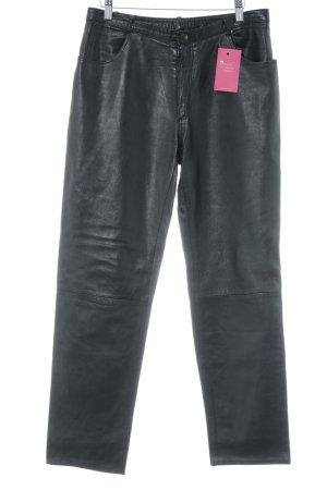 Pantalon en cuir noir style décontracté