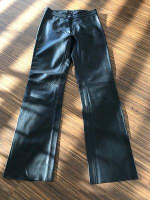 Lederhose schwarz, Größe 34