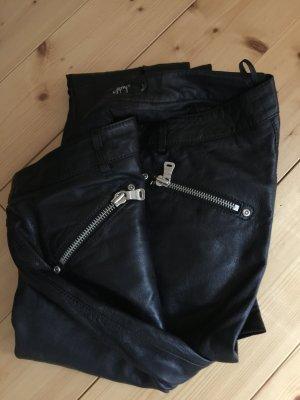 Lederhose, schwarz, Größe L