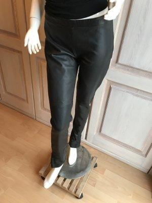 Lederhose schwarz Leder neu 36 Lederleggings echte Lederhose neu