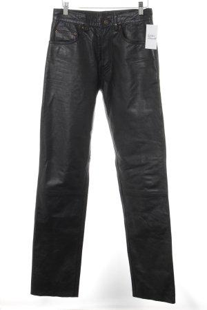 Pantalón de cuero negro estilo rockabilly