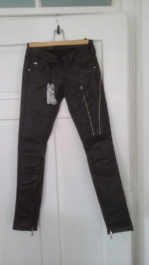 Lederhose schwarz von Miss Sixtx