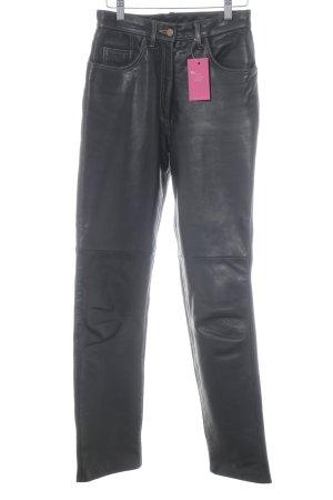 Lederhose schwarzbraun Street-Fashion-Look