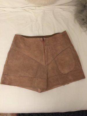 High-Waist-Shorts pink