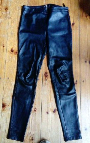 Zara Pantalon en cuir noir faux cuir