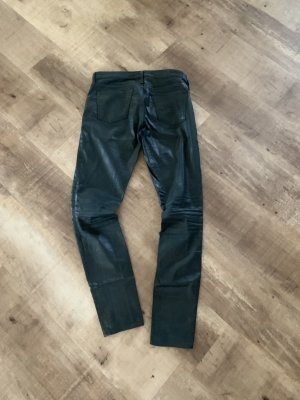 Adriano Goldschmied Leather Trousers dark green