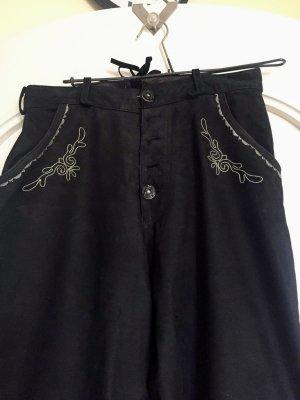 Pantalone in pelle marrone scuro Pelle