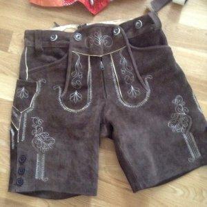 Pantalon bavarois brun foncé-brun