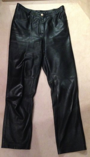Lederhose true vintage Leder Hose Black schwarze Lederhose Rocker Gr S M 40 38
