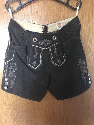 Country Maddox Pantalon traditionnel en cuir brun foncé