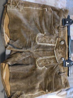 Spieht & Wensky Pantalone in pelle marrone Pelle