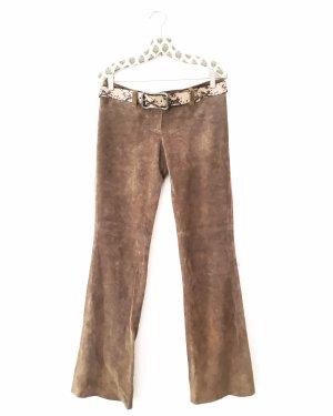 Vintage Leren broek veelkleurig
