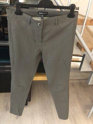 Arma Collection Pantalón de cuero gris oscuro-verde oscuro Cuero