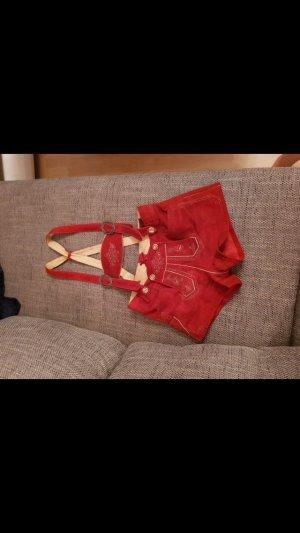 Moser Pantalon traditionnel en cuir rouge brique