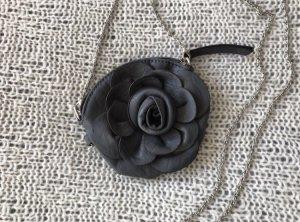 Lederimitat Clutch Täschchen Rose Blume
