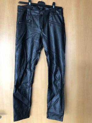 Pantalon en cuir noir