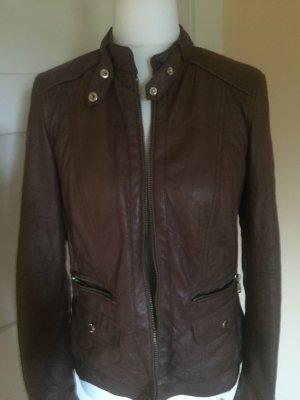 Bonita Biker Jacket brown imitation leather