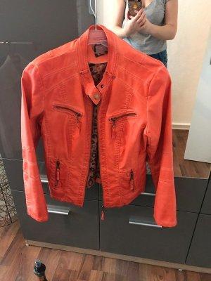 Lederimitat Jacke Orange NEU mit Etikett Gr. 40 C&A CUNDA