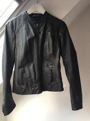 Lederimitat-Jacke von Promod, Biker-Stil, Gr. S
