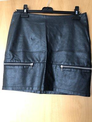 Takko Falda de cuero de imitación negro