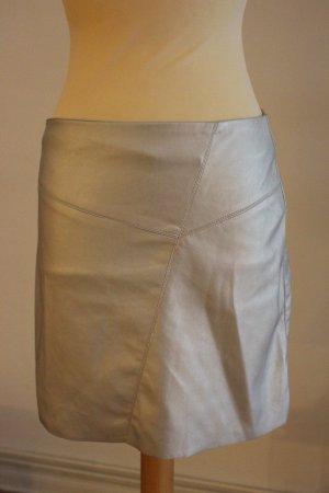 Pimkie Falda de cuero de imitación color plata