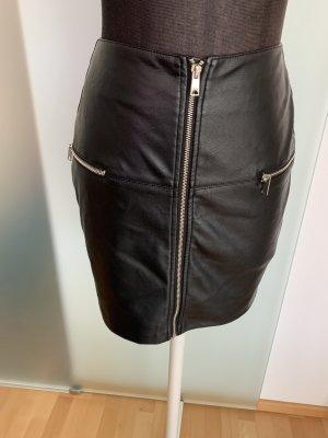 Amisu Rok met hoge taille zwart