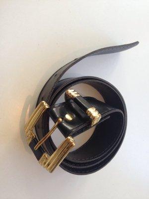 Lederimitat ungetragen Antikgold Schwarz Nappaleder Optik